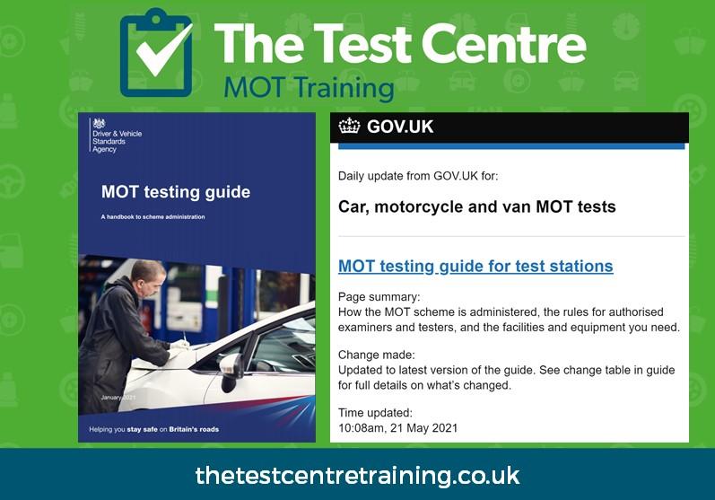 MOT Guide Updates May 2021